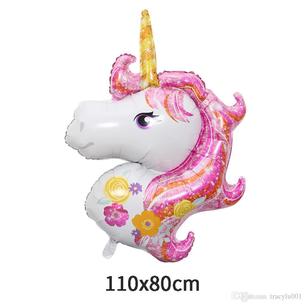 Birthday Party Decorations Kids Foil Balloons New Latex Unicorn ...