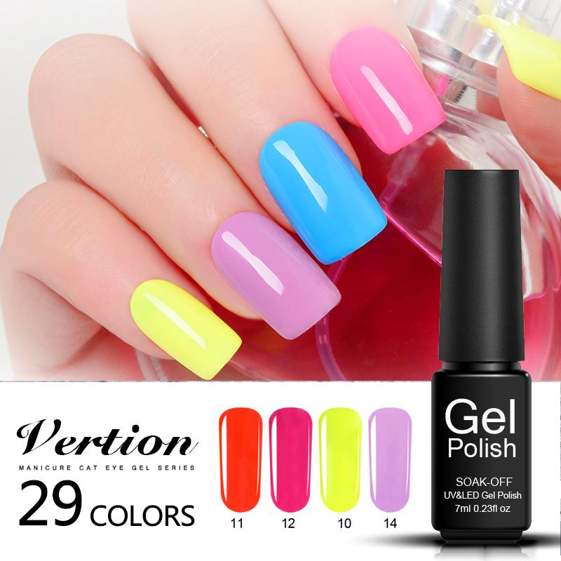 Verntion Gel Nail Polish Soak Off Semi Permanent Acrylic Gel Lacquer ...