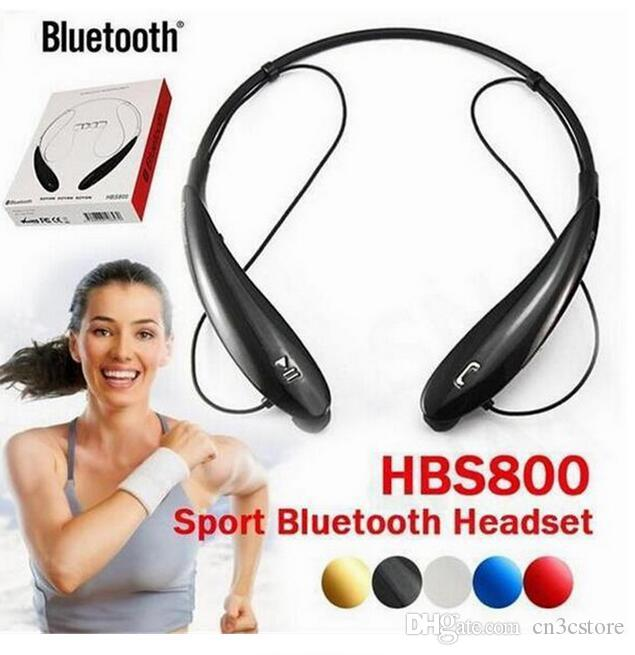 Hot sale HBS 800 Bluetooth 4.0 Earphone Headphones HBS-800 Sports Stereo Bluetooth Wireless Headset for Samsung phone Soft Box