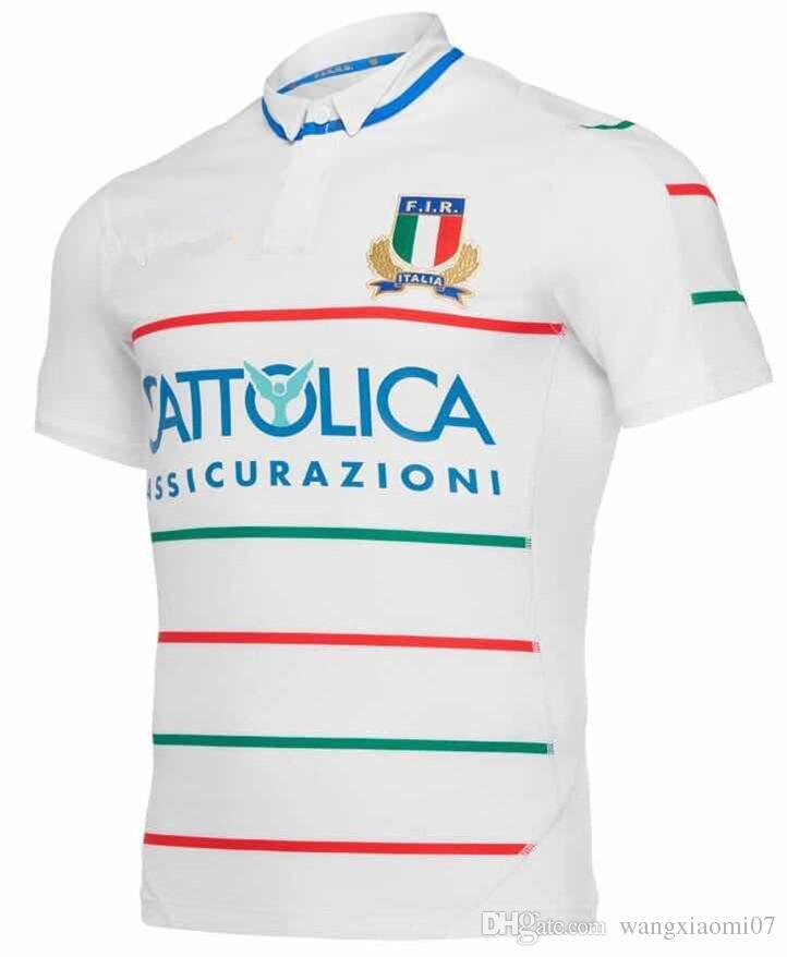4edef60af1953 Compre Itália 2018 19 Camisa De Rugby Alternativa Itália 2018 19 Formação  Rugby Camisa Itália 2018 19 Jogadores De Viagem Rugby Tamanho S M L XL XXL  3XL De ...
