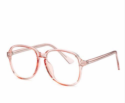 12a20be08e88a Compre Claro Geléia Rosa Óculos De Armação Para As Mulheres  Superdimensionada Cor Sólida Óculos Super Bonitos Transparente Lente Clara  Óculos De Olho S1700 ...