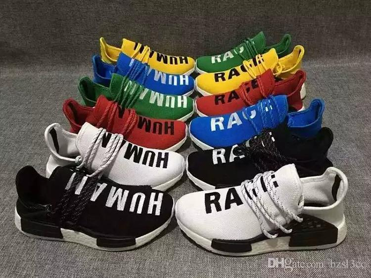 ecc159106 2017 Brazil S Olympic Runner NMD Human Race Boost Pharrell S Williams  Fashion Running Shoes Top Human Race Pharrell X Sports Sneakers Shoes For  Men Sports ...