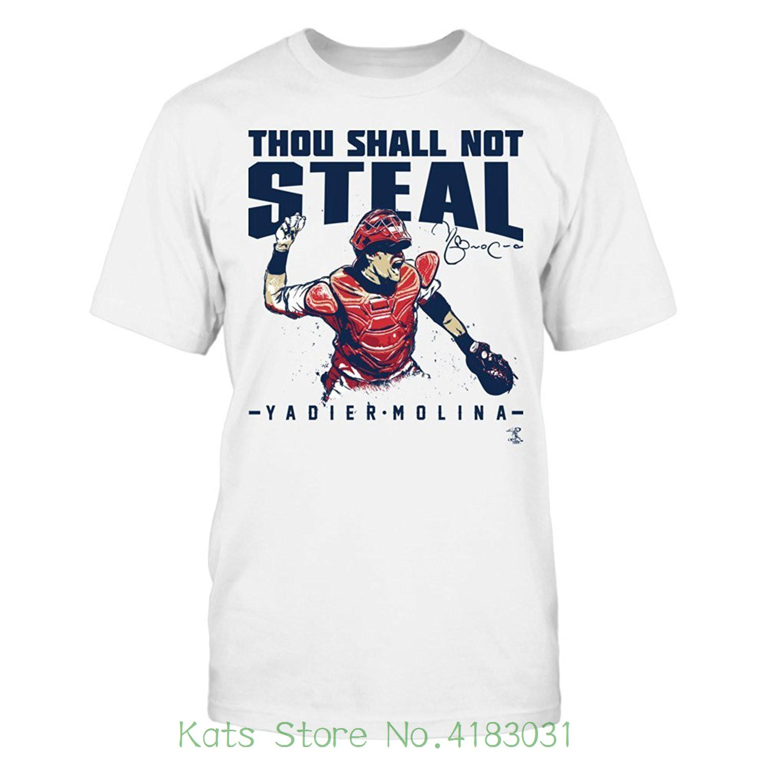 best website d1e63 2bc33 Yadier Molina Thou Shall Not Steal T shirt Officially Licensed Fashion  Sportsy Apparel New 2018 Funny