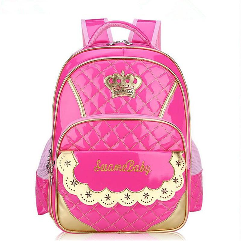 9167ac52c7e 2018 waterproof pink Princess school bag children student book bags kids  Shoulder backpack portfolio Girls for class/grade 3-6