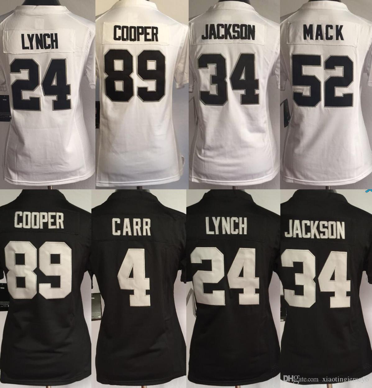 2018 Wholesale Women 24 Marshawn Lynch 4 Derek Carr Jersey Oakland Raider  52 Khalil Mack 34 Bo Jackson 89 Amari Cooper Football Jerseys From  Xiaotingjersey6 ... 0a6fdd03d