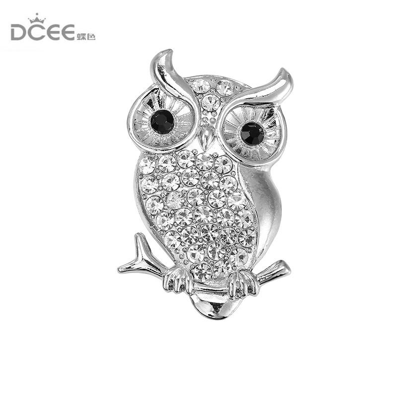DCEE White Stone Owl Brooches And Pins For Women Personalized Design ... 3bd9a0fe708c