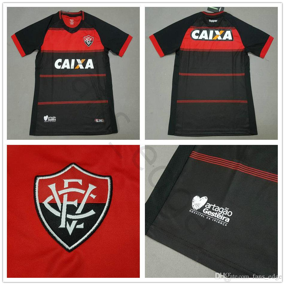 523aea15c829f 2019 2018 2019 Vitoria Esporte Clube Soccer Jersey Neilton Arouca BOU ANDRE  LIMA Custom Home Black 18 19 Adult Vitoria BA Football Shirt From  Famous jersey