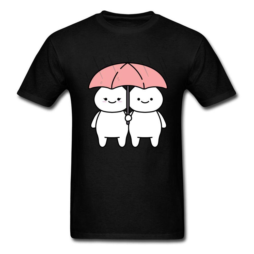 b838a9d8d15 Unique In The Rain T Shirts Couple T Shirt Men Cute Tshirt Cartoon Print  Tops Friends Groups Tees Custom Cotton Clothes Black Online Shopping Tee  Shirts ...