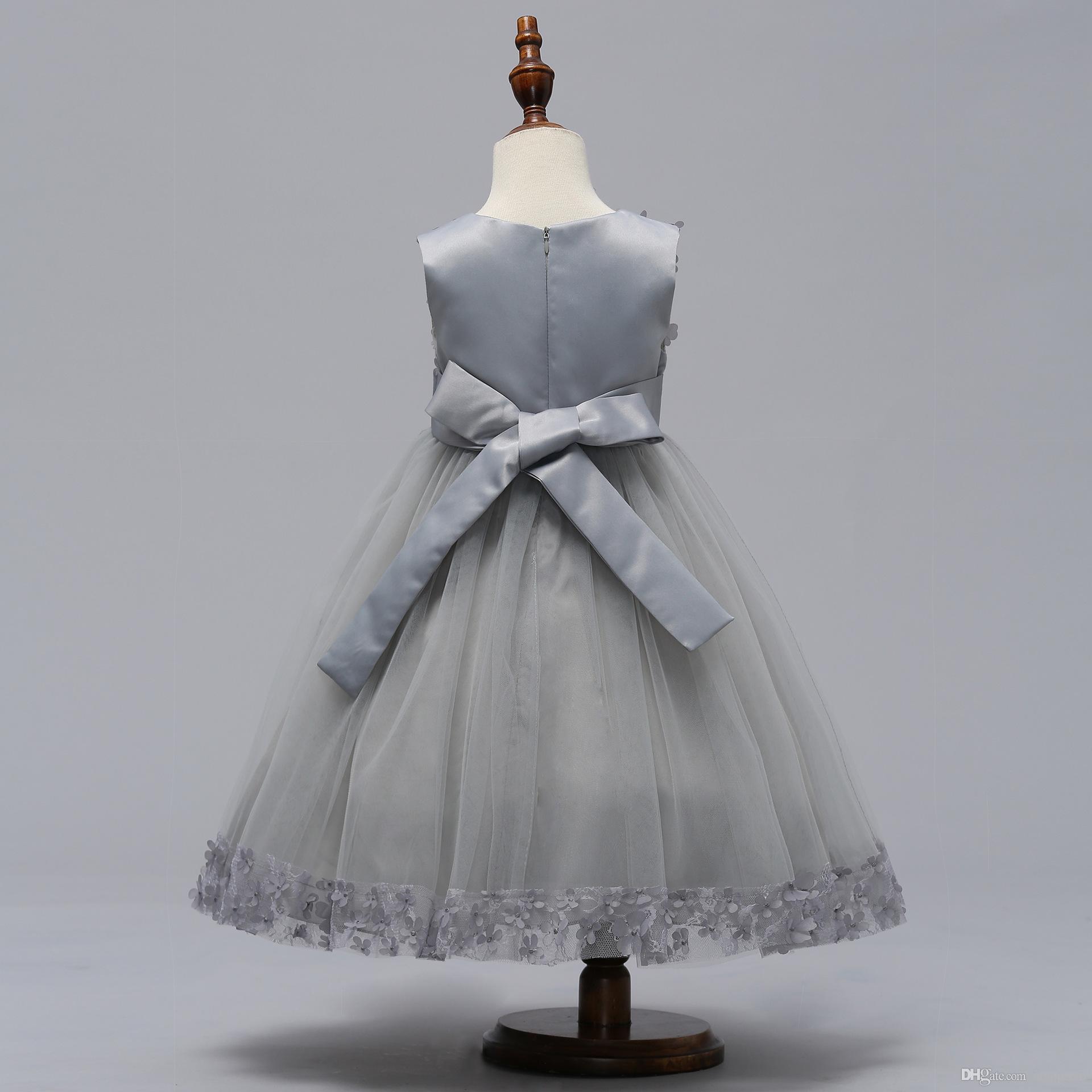 Bowknot Dress For Girls Bambini abiti da ballo ragazze Vestido Infantil Princess Serata Party Roupas De Menina Femininas