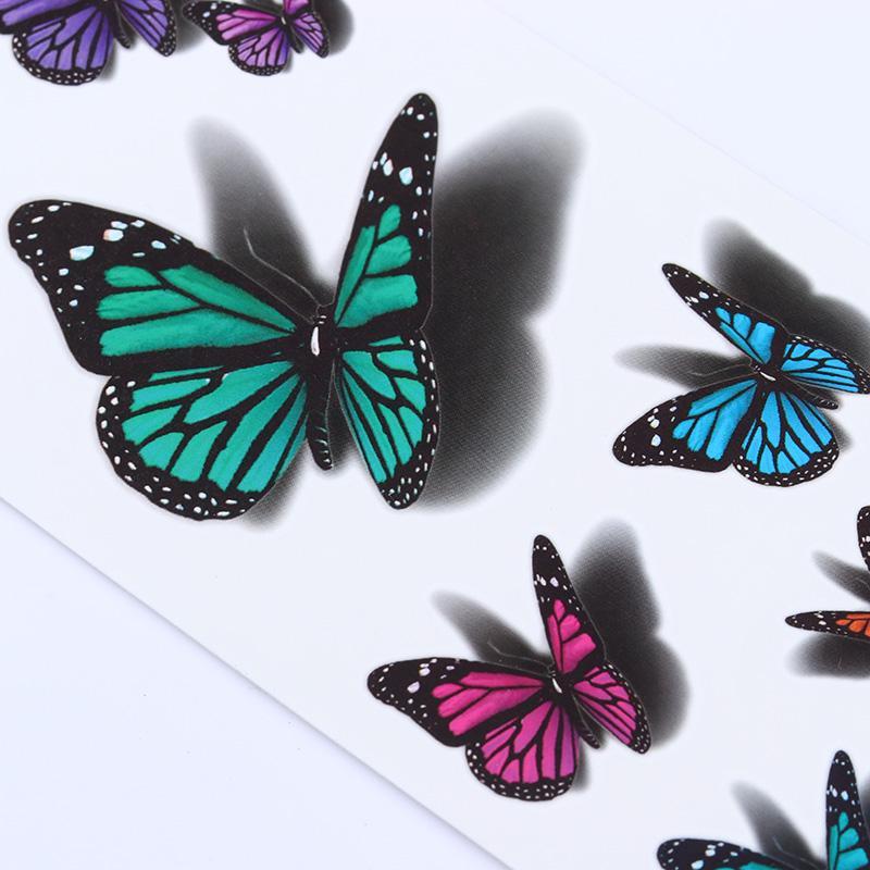 3D Temporales Tatuajes Tatuajes Mariposas Arte Compre De Corporal 4qaAxTwO1P