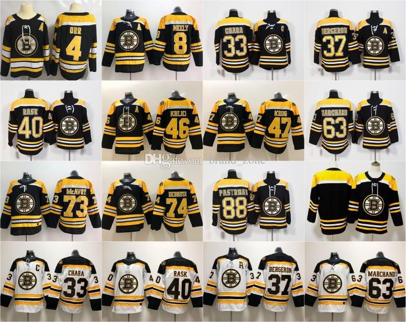 fef3b72bf 2019 Boston Bruins Zdeno Chara Patrice Bergeron Charlie McAvoy Brad  Marchand David Pastrnak Torey Krug Tuukka Rask David Krejci Cam Neely  Jerseys From ...