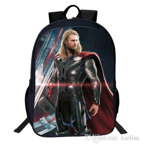 791c4f02b420 16 Inch Shool Bag Oxford Printing Cartoon Avengers Print Iron Man 7 14 Year  Old Boys Backpacks For Children School Bag Tenns Bookbag School Backpacks  For ...