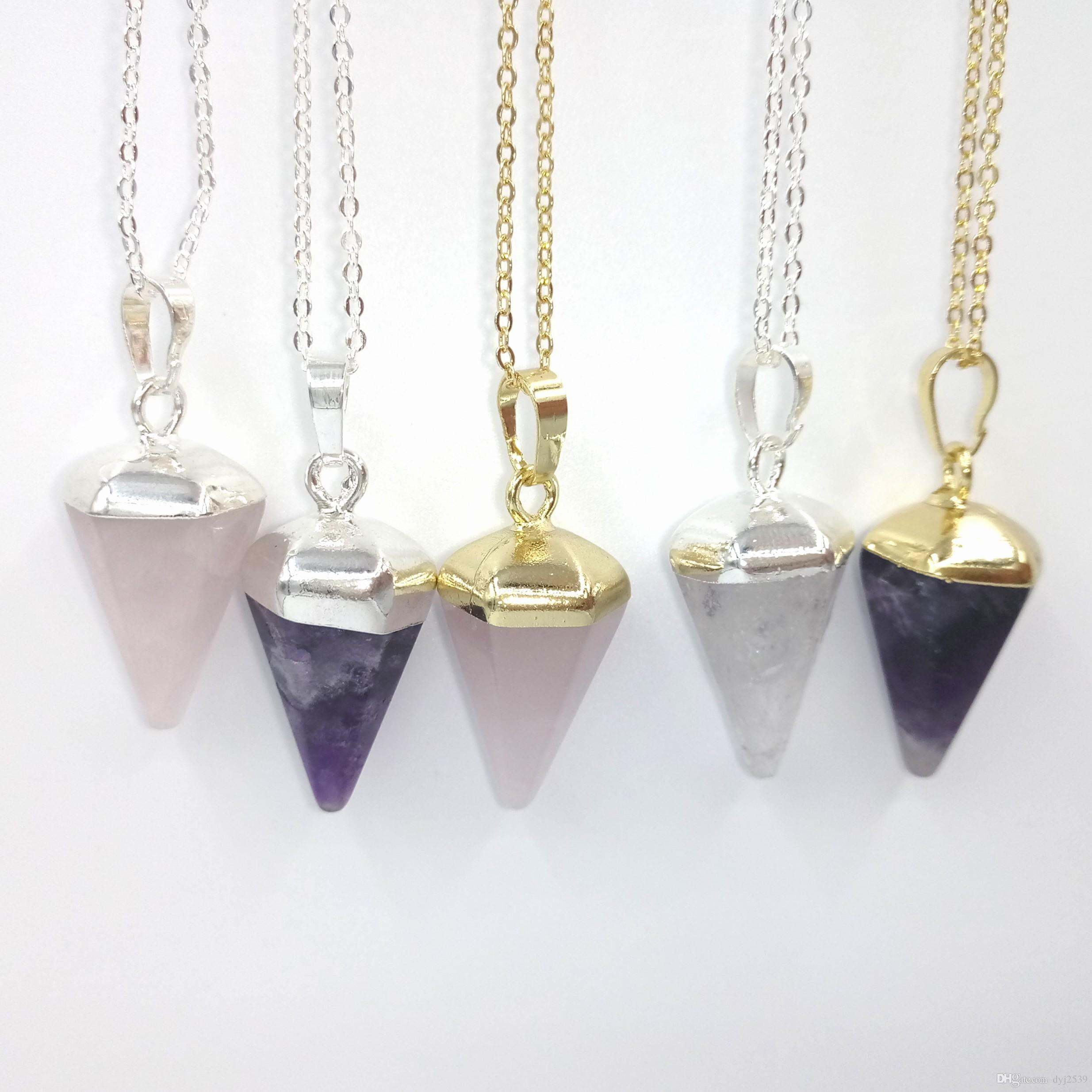 point pendant crystal amethyst vaults