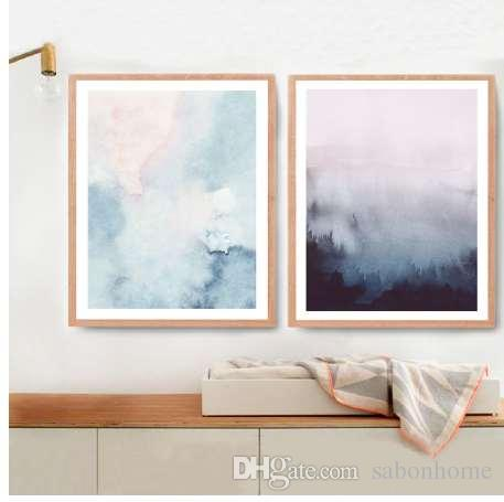 grohandel abstrakte kunst leinwand malerei moderne wandbild aquarell pastell kunst leinwand und poster home wall art decor von sabonhome 1161 auf de