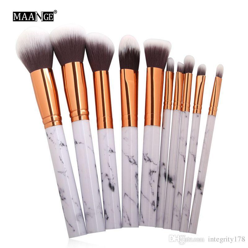 MAANGE Marble Texture Makeup Brushes Set Powder Foundatin Eye Shadow Contour Blush Cosmetic Marbling Make Up Brush Tool