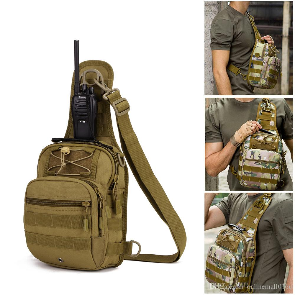 Latest Collection Of By Dhl Or Ems 50pcs Nylon Military Tactical Travel Hiking Riding Cross Body Messenger Shoulder Backpack Chest Waterproof Bag Camping & Hiking Climbing Bags