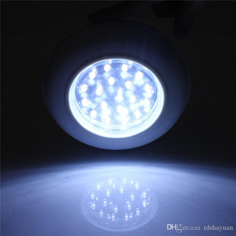 White 18 LED Wireless Cordless Ceiling Wall Light Stair Closet Battery Operated Bulb Lamp with Remote Control Switch