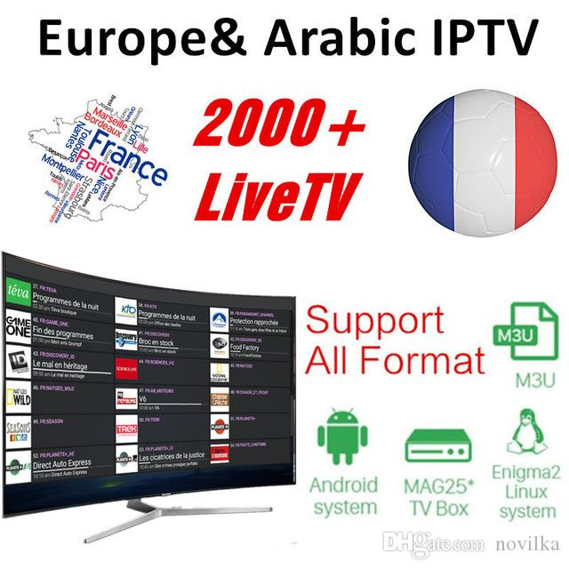 iproTV IPTV 1 Year subscription with 2100+ Live TV and VOD French Arabic UK Gemany Europe iptv free sports smart tv