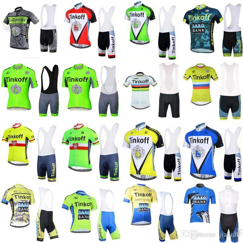 2018 SAXO BANK TINKOFF Cycling Jersey Bib Shorts Short Sleeve Set Ropa  Ciclismo Mountain Bike Breathable Bicycle Jersey Sports F1202 Cycle Surgery  Gore Bike ... 2cc60be4d