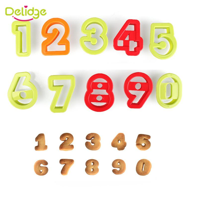 Delidge Number Letters Biscuit Cutter Fondant Cake Cookie Press Embosser Mold Birthday Decoration Tools UK 2019 From Tinaya
