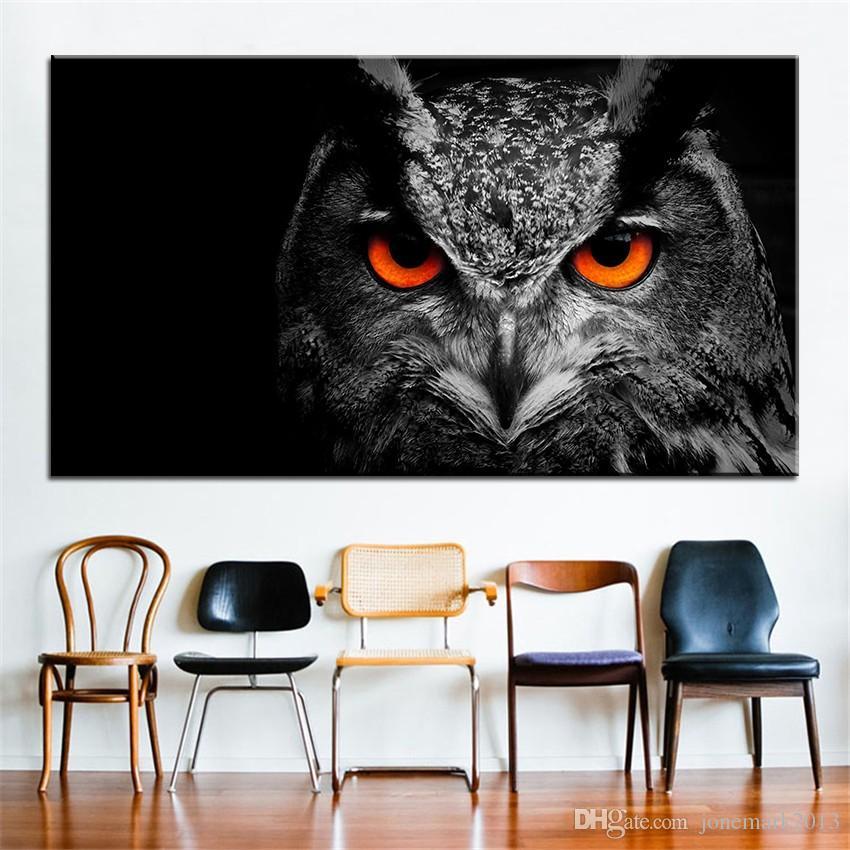 Satın Al Büyük Boy Baskı Yağlıboya Baykuş Göz 2 Duvar Boyama Dekor