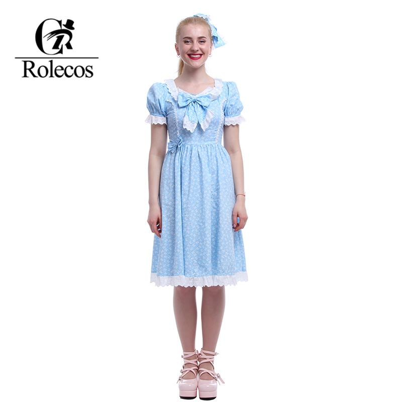 ROLECOS Sweet Lolita Dresses Plus Size The Shining Cosplay Halloween ...
