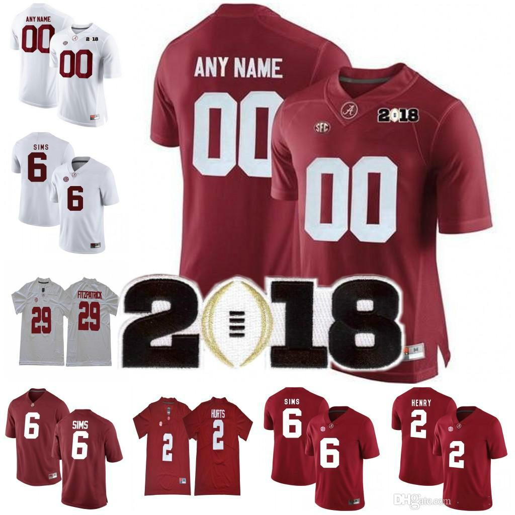 d50bf69d5 Custom Alabama Crimson Tide 6 Devonta Smith 13 Tua Tagovailoa 94 ...