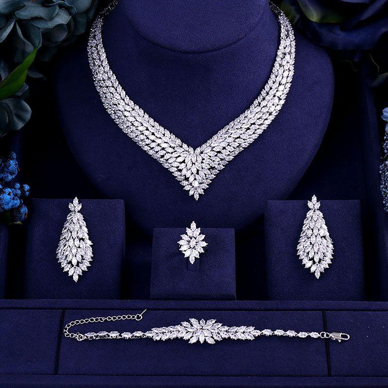 bfe56543f Luxury AAA Cubic Zirconia Heavy Necklace