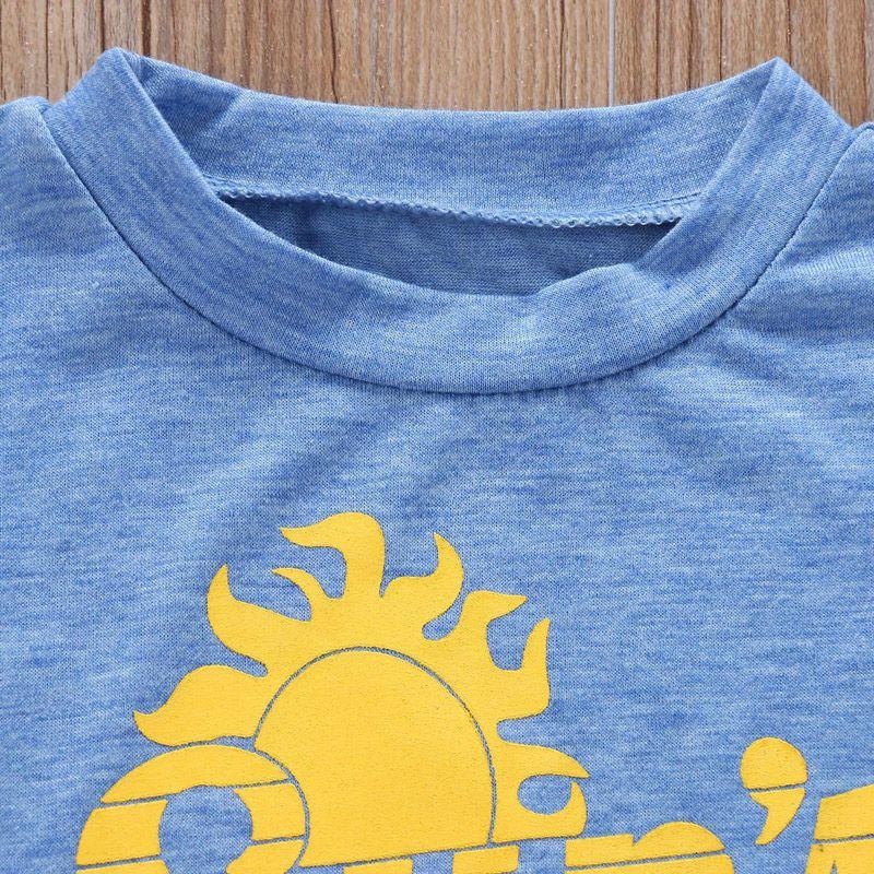 INS Verano para niños pequeños Camiseta para niños Ropa sin mangas Impresión