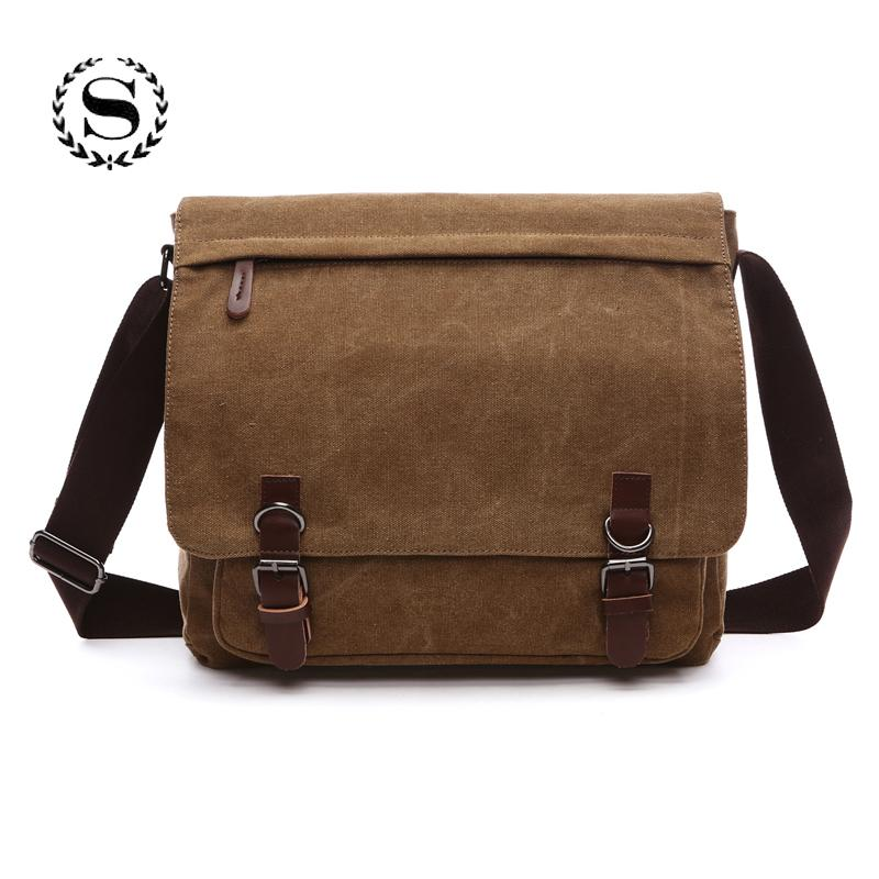 882876651f Canvas Messenger Bags For Men Practical Korean Satchels Boys Student  Business Men Laptop Bags Waterproof Bolsas De Mensajero Handbags On Sale Shoulder  Bags ...