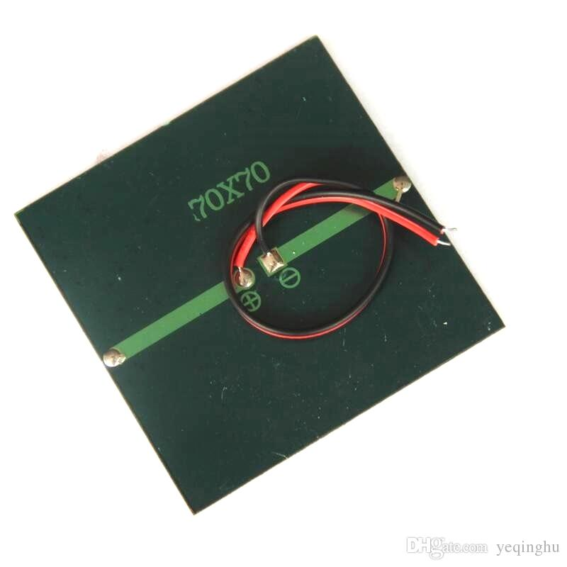 BUHESHUI 0.7W 1.5V Mini Solar Panel Polycrystalline Solar Cell DIY Solar Toy Panel 70*70MM+Cable/Wire Study