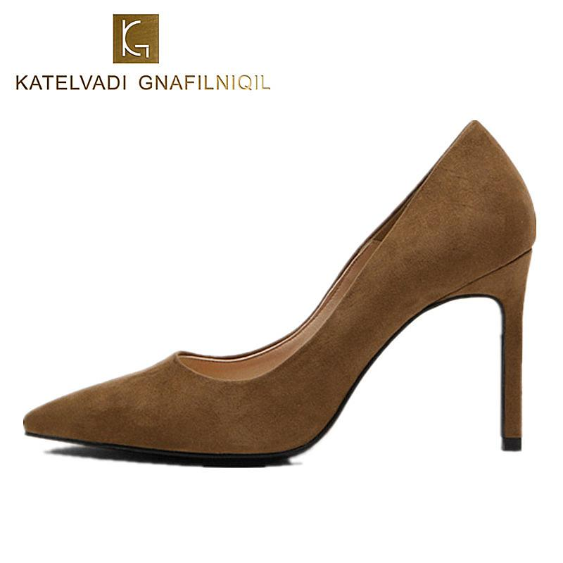 0b61e8dc5f25 Sexy Brown Shoes Women 10.5CM High Heels Pumps Party Shoes Wedding ...