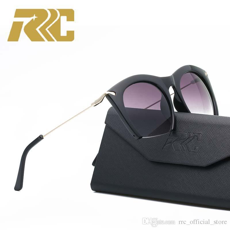 526475eb958 RC 2018 Fashion Semi Rimless Vintage Retro Black Leopard Print Designer  Flat Lens Sunglasses For Women Eye Glasses Bottom Cut Off Eyewear Round  Sunglasses ...