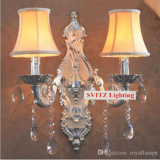 2019 Svitz Bar Vintage Silver Wall Candle Lights Large