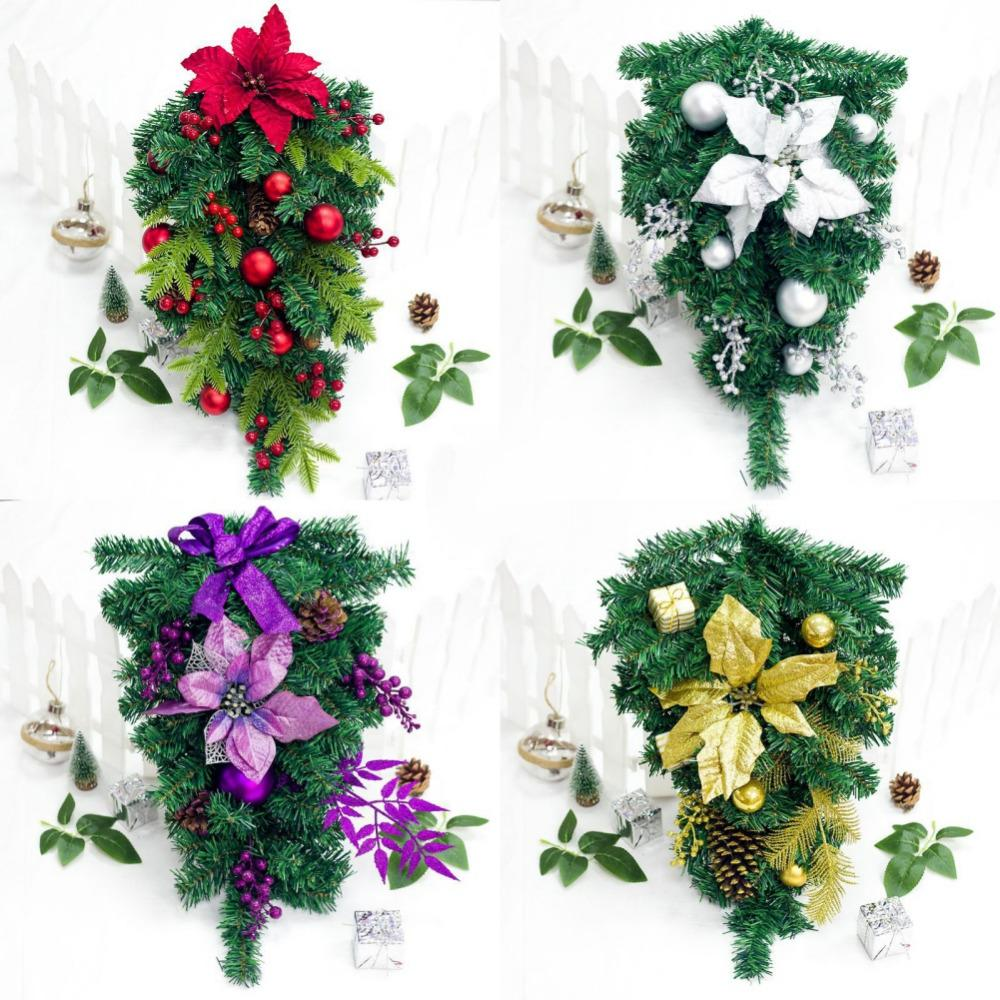 24 Inch Artificial Inverted Christmas Tree Upside Down Xams Tree ...