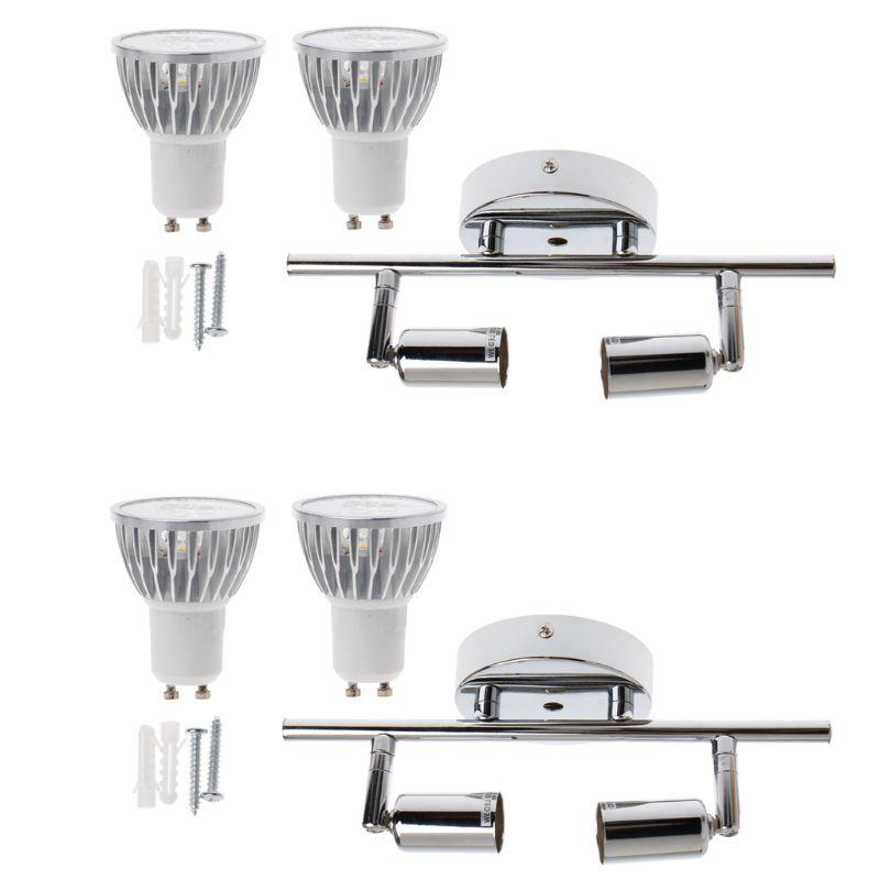 9w Indoor Ceiling Spotlight 2 Lights Modern Decoration Lamps Gu10 Rotatable Turned Swiveled Decorative Room