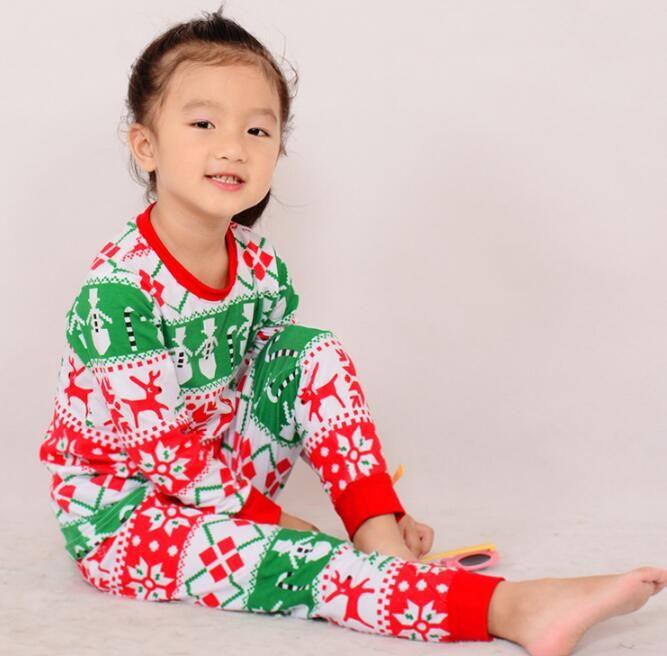 f7e50481bd Baby Boys Girls Christmas Pajamas Child Reindeer Nightwear Kids Clothing  Sets Cotton Pajamas Suits Kids Flannel Pajamas Childrens Pjs From  Jasmineer