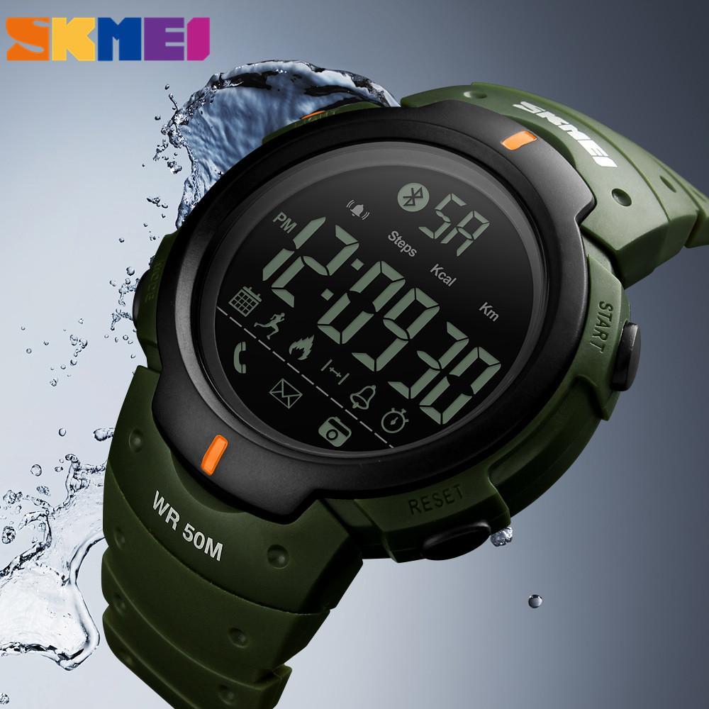 ca3657a3638 Compre Moda Smartwatch Para Iphone Android Ios Sports Watch À Prova D  água  Bluetooth Smart Watch Homem Relógios Homens Relógios De Pulso Zegarek De ...