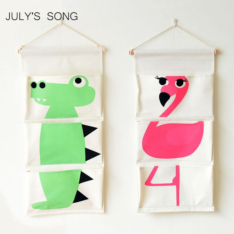 2019 Julys Song Wall Hanging Storage Bags Wall Pocket Hanging