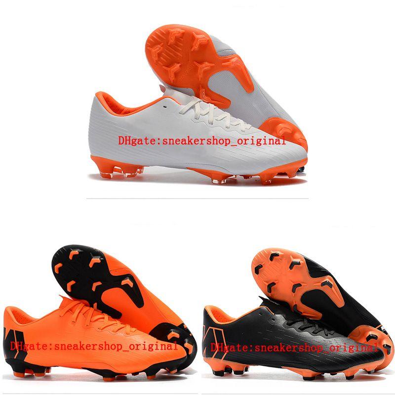 Compre 2018 Nueva Llegada De Cuero Botines De Fútbol Low Mercurial Vapor  Superfly XII PRO FG Zapatos De Fútbol Para Hombre Botas De Fútbol Exterior  Naranja ... 6303b038d948c