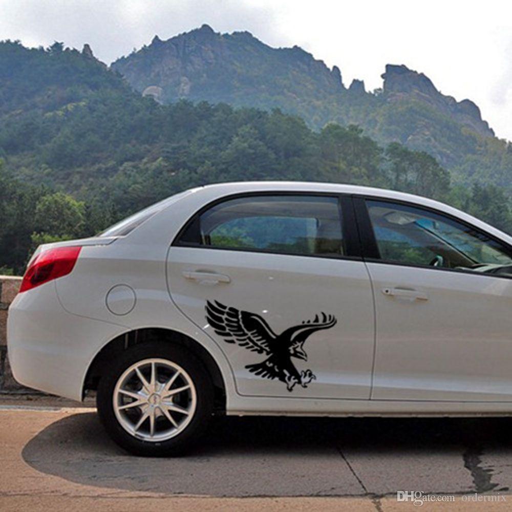 1 Pz Moda Riflettente Aquila Decalcomania Adesivi Auto In Vinile Auto Door Hood Copertura Sticker Car Styling All'ingrosso