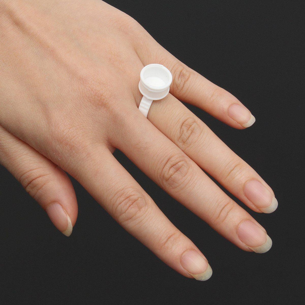 White /Bag Medium Size Disposable Permanent Makeup Ring Partition ...