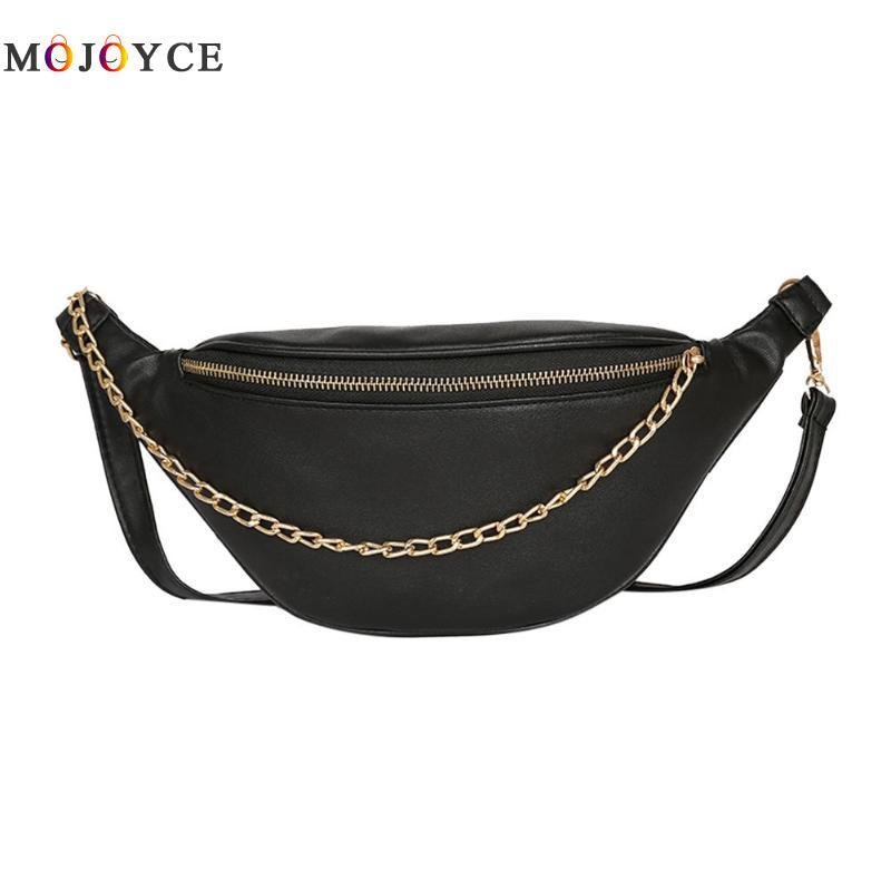 52414c57e0b Women Casual PU Leather Waist Bags Chain Decor Strap Fanny Pack Phone Pouch  Ladies Belt Bag Heuptas Small Bags Best Hiking Backpack From Bag80666