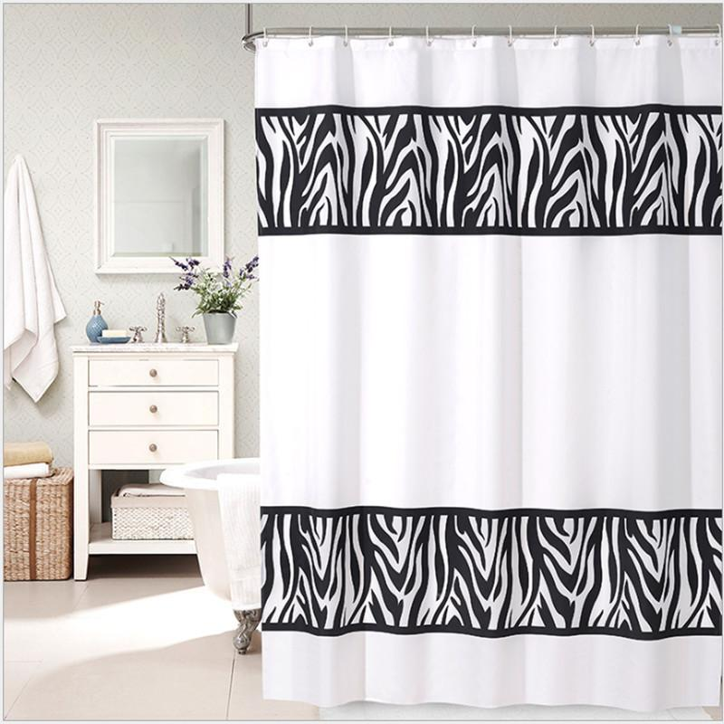 2018 Black And White Thick Polyester Shower Curtain. High Quality Bathroom Shower  Curtain. Waterproof Mildew Curtain / Partition Curt From Caley, ...