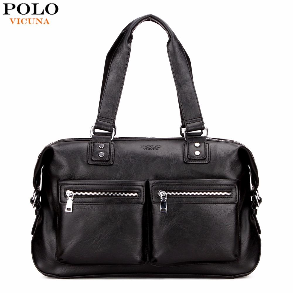 b41ebe6937 VICUNA POLO Casual Brand Leather Mens Travel Bag High Capacity Duffle Bag  For Trip Business Men S Travel Shoulder Handbag Wheeled Duffle Bags Carry  Bags ...