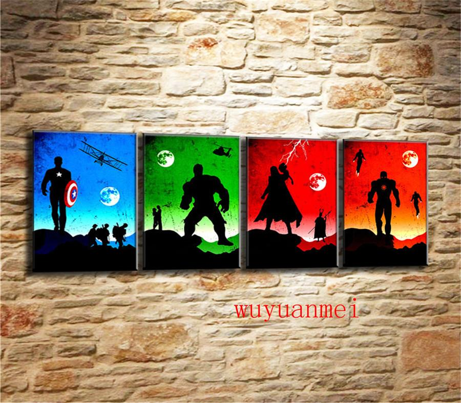 The Avengers-3 , 3 Pieces Home Decor HD Printed Modern Art Painting on Canvas (Unframed/Framed)