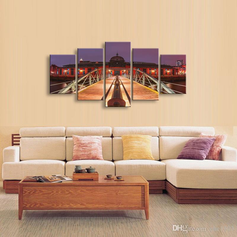high-definition print Landscape canvas oil painting poster and wall art living room picture PL5-147