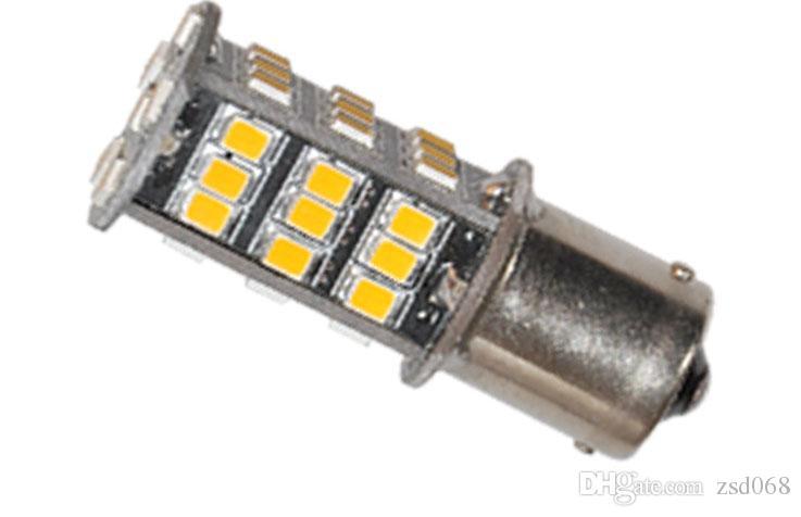 Car auto 3000K Warm White 1156 BA15S RV Trailer Interior LED Lights Bulbs 42 SMD 2835 for Any Car Led Decoration