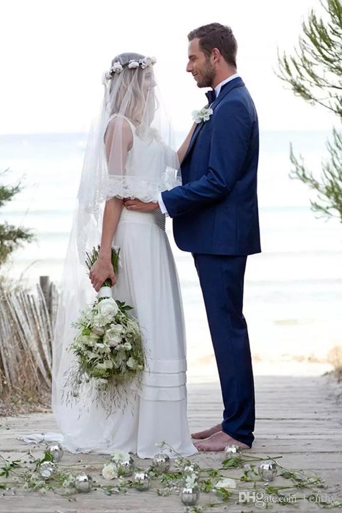 Royle Azul Homens Ternos Custom Made ternos de casamento para o homem Noivo Tailored Tuxedo Slim Fit Formal Groomsman Prom Best Man