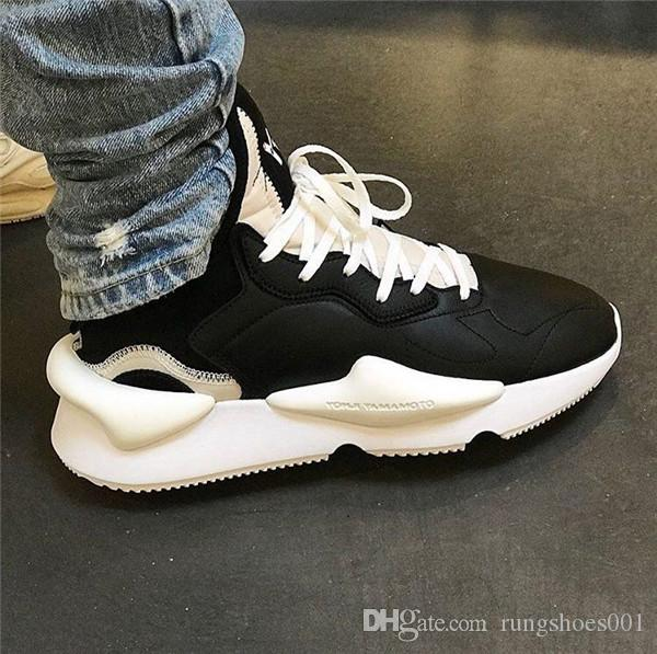 65754ae5c 2019 With Box Y 3 Kaiwa Chunky Mens Casual Shoes Luxurious Fashion Yellow  Black Red White Y3 Boots Leather Sneakers From Rungshoes001